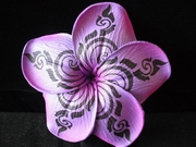 3.5 Inch Tribal Print Plumeria Hair Clip or Pick
