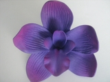 4 Inch Cymbidium Orchid Flower Hair Pick- Purple