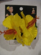 HIBISCUS  DOUBLE FLOWER CLIP