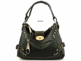 BIG ZIPPER TWIST LOCK HOBO