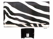 ZEBRA PRINT PUSH BUTTON WALLET