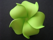 Plumeria Foam Flower Hair Clip Mango Green