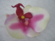 ORCHID FLORAL HAIR CLIP