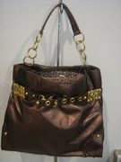 BRONZE HOBO HANDBAG