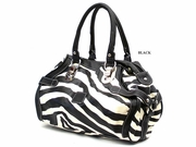 ZEBRA PRINT MEDIUM SATCHEL
