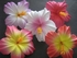 "3.5"" HIBISCUS FOAM FLOWER HAIR PICK-Sherbet Pink w/ Yellow Center"
