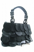 FAUX CROC SCALES SHOPPER HANDBAG