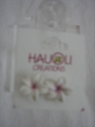 HAWAIIAN PLUMERIA FIMO FLORAL EARRINGS SMALL