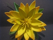 "3.5"" Lotus Flower w/ Lily Pad-Yellow"