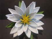 "3.5"" Lotus Flower w/ Lily Pad- Blue"