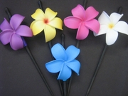 "3"" Pointed Petal Plumeria Hair Stick- Assorted Colors"