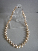 FRESH WATER PEARL EGG SHAPPED CHOKER NECKLACE