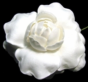 "GARDENIA FLOWER HAIR PICK   FGAR4   3"" Inches"