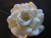 "GARDENIA FLOWER HAIR PICK  FGAR7 2.5"" inch"