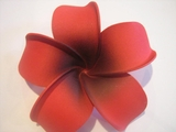 4 Inch Pointed Petal Plumeria Flower-Red