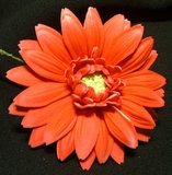 GERBERA DAISY FOAM FLOWER HAIR CLIP-Just Red