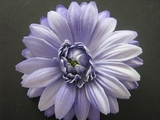 GERBERA DAISY FOAM FLOWER HAIR CLIP Purple White