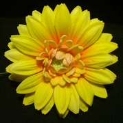 GERBERA DAISY FOAM FLOWER HAIR CLIP-Yellow