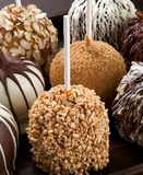 CARAMEL DIPPED CHOCOLATE COVERED GOURMET APPLE  WITH NUTS