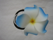 HAWAIIAN PLUMERIA FOAM ELASTIC HAIR BAND