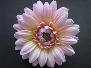 GERBERA DAISY FOAM FLOWER HAIR CLIP Light Pink Yellow