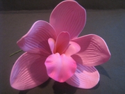 4 Inch Cymbidium Orchid Flower Hair Pick- Pink
