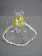 PUCCA SHELL ANKLET WITH PLUMERIA FLOWER