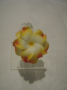 DOUBLE OLU- OLU FLOWER  PLUMERIA HAIR CLIP MEDIUM