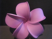 4 Inch Pointed Petal Plumeria Flower-  Purple