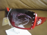 OVERSIZED DESIGNER INSPIRED WOMENS FASHION SUNGLASSES RED