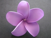 POINTED PETAL PLUMERIA FLOWER HAIR CLIP Deep Purple