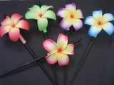 "3"" Pointed Petal Plumeria Hair Stick- 2 Tone Colors"