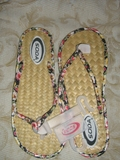 SODA BLACK, RED and PINK FLOWERS FLIP FLOP FLAT SANDALS
