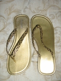 MULTICOLORED GOLD and BRONZE FLATS SANDAL