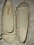 BEIGE CANVAS ESPADRILLE BOAT STYLE FLATS