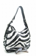 ZEBRA PRINT BUCKET FASHION HANDBAG