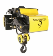 "1 Ton R&M Spacemaster SX Single Reeved Electric Wire Rope Hoist, 19' 8"" Lift"