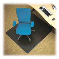 Black Carpet Chairmat 60x60