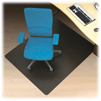 Black Hard Floor 60x60 Chairmat Rectangle