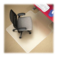 Medium Pile Carpet Chairmat 36x48 w20x12 lip