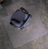 Vinyl Chairmat 45x53 w 25x12 lip for carpet