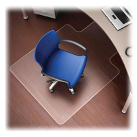Non Studded Hard Floor Chairmat 36x48 w/20x12 Lip