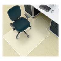 36x48 w/20x12 lip Low Pile Chair Mat for Carpet