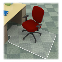 Desk Chair Mat 36x48 w 20x12 lip for Carpet