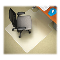 Anti-Static Chair Mat 36x48 w20x10 lip for Carpet