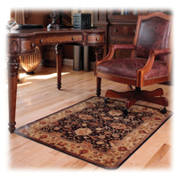 Decorative Hard Floor Chairmat Black 46x60 Rectangle