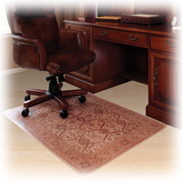 Decorative Hard Floor Chairmat Tan 36x48 Rectangle