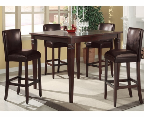Miranda 5 pc bar height dining set furniture 4 less dallas for Furniture 4 less dallas tx