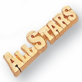 ALL STAR CHENILLE PIN GOLD