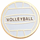 VOLLEYBALL ENAMELED PIN GOLD